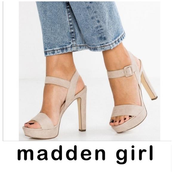 ffb9c84728f7 Madden Girl Shoes - Rollo Taupe Platform Madden Girl Sandals Heels